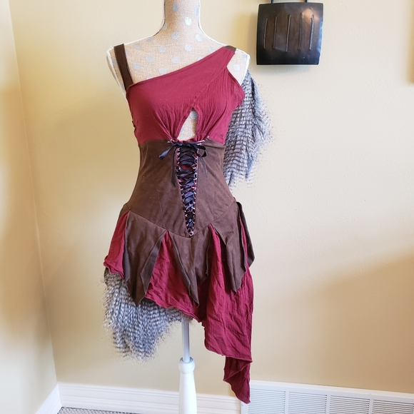 Forest fairy cosplay corset earthy costume